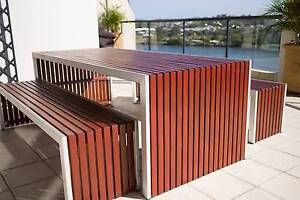 Outdoor Dining Table & Benches Hamilton Brisbane North East Preview