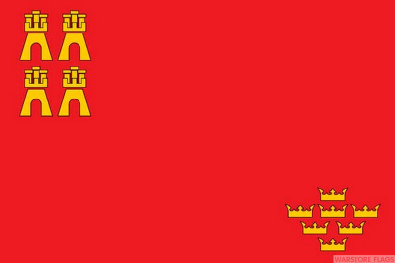 MURCIA SPAIN SPANISH 5x3 feet FLAG 150cm x 90cm Polyester fabric flags