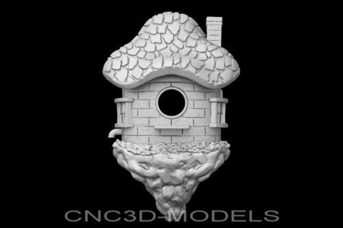 3D Model STL for CNC Router Engraver Carving Artcam Aspire Bird House w170
