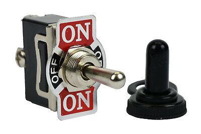 Temco 20a 125v On-off-on Spdt 3 Terminal Toggle Switch Momentary W Boot