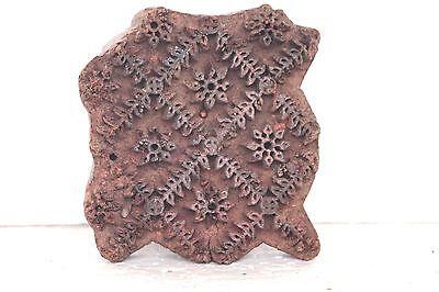Old Vintage Wooden Antique Hand Carved Textile Printing Block Stamp T71