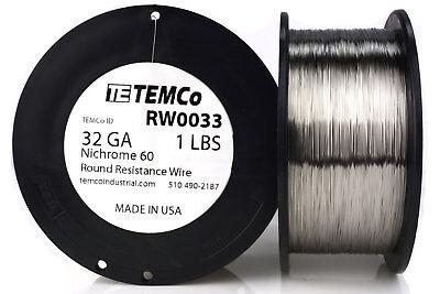 Temco Nichrome 60 Series Wire 32 Gauge 1 Lb 5565 Ftresistance Awg Ga