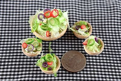 Handmade Salad Meal Miniature Food Dollhouse Accessories Barbie Doll 1:6 Scale