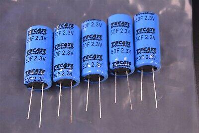 5 Tecate Powerburst 50f 2.7vdc Ultracapacitors Supercapacitors Tpl-5018x40f