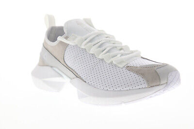 Reebok Sole Fury LE Mens White Suede & Leather Athletic Running Shoes