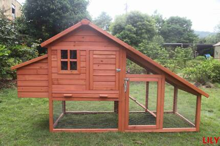 X-Large Chicken Coop Rabbit Hutch Ferret Cage Hen Chook House