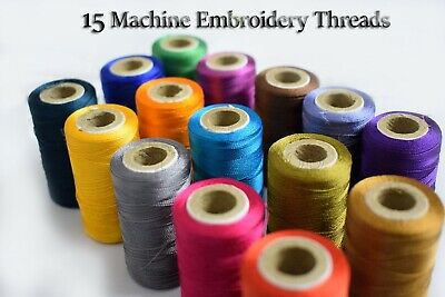 vico 100% Silk dark Thread spools best for embroidery and Sewing Machine (Best Sewing Machine For Apparel)