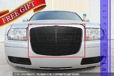 GTG 2005 - 2010 Chrysler 300 and 300C 1PC Gloss Black Replacement Billet Grille