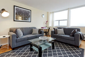 YONGE & EGLINTON fully furnished suite with internet + cable <<<