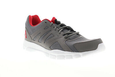 Reebok Premier Road EG5315 Mens Gray Mesh Athletic Lace Up Running Shoes