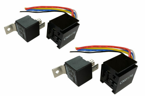 2 LOT TEMCo 12 V 60/80 Amp Bosch Style S Relay with Harness Socket Automotive