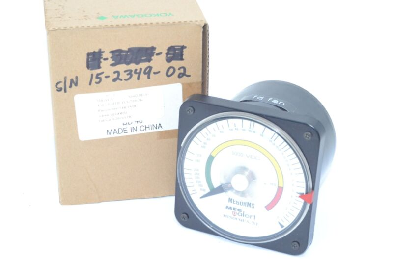 YOKOGAWA 103111EAEA-1548 METER 5000VDC, 1000MO, Transducer Indicator