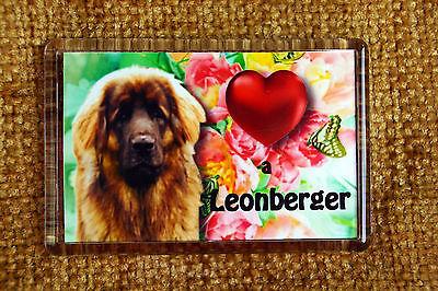 Leonberger Gift Dog Fridge Magnet 77x51mm Free UK Postage Birthday Gift