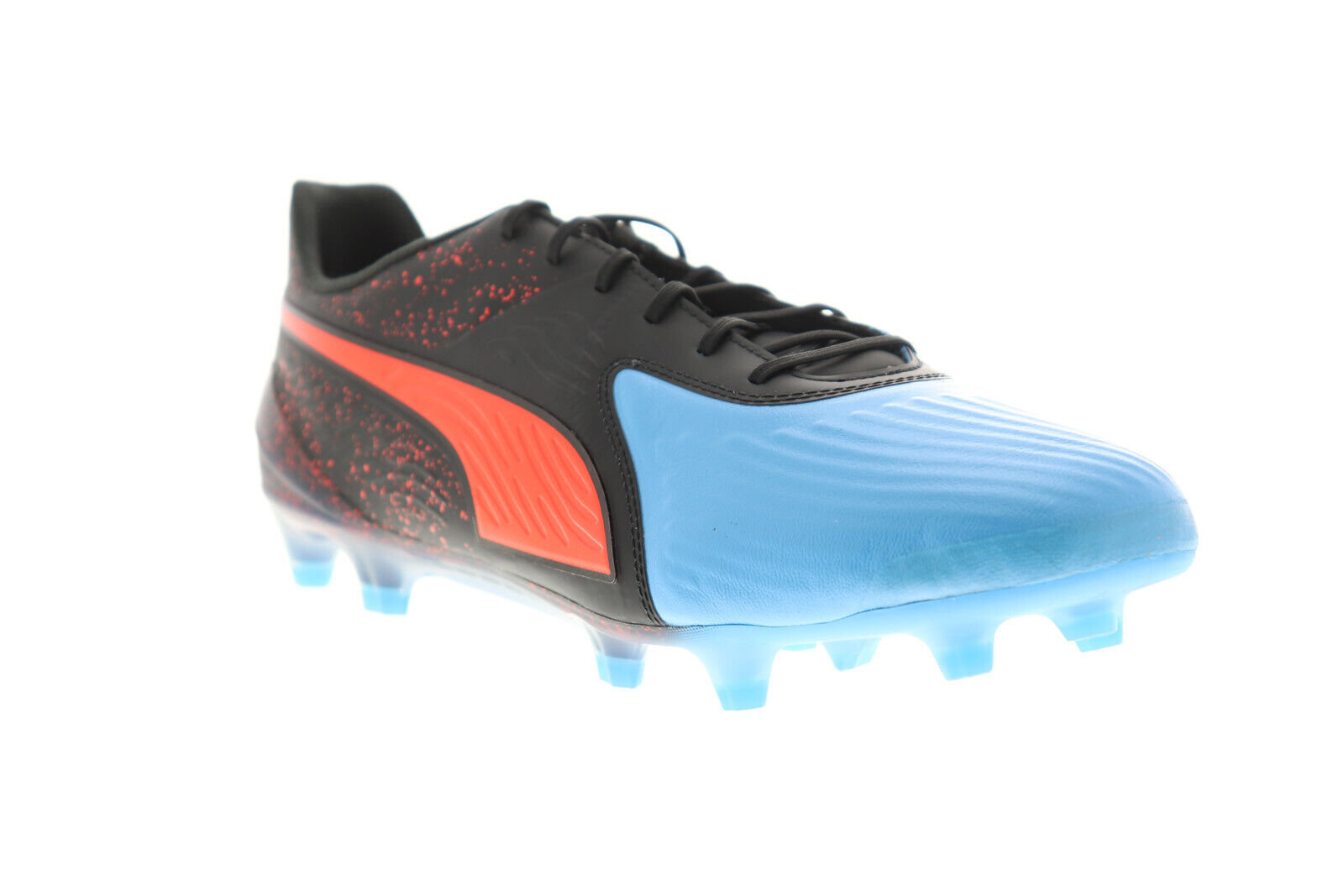 Puma One 19.1 Cc FG AG 10548201 Mens Black Low Top Athletic Soccer Cleats Shoes