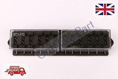 12 WAY HEAVY DUTY STANDARD BLADE FUSE BOX HOLDER KIT CAR VAN MARINE - Heavy Duty Standard Kit