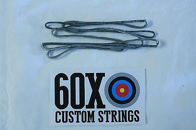 "60X Custom Strings 53/"" 57 AMO 12 Strand Black Dacron B50 Recurve Bowstrings Bow"