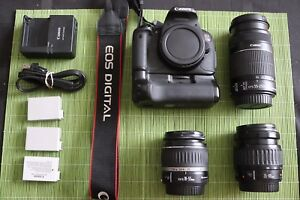 Canon t4i. With grip.  3lenses   3 batteries. And charger