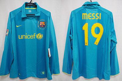 2007-2008 FC Barcelona Barca FCB Jersey Shirt Camiseta Away Messi  19 L S  XL NWT 73740941a