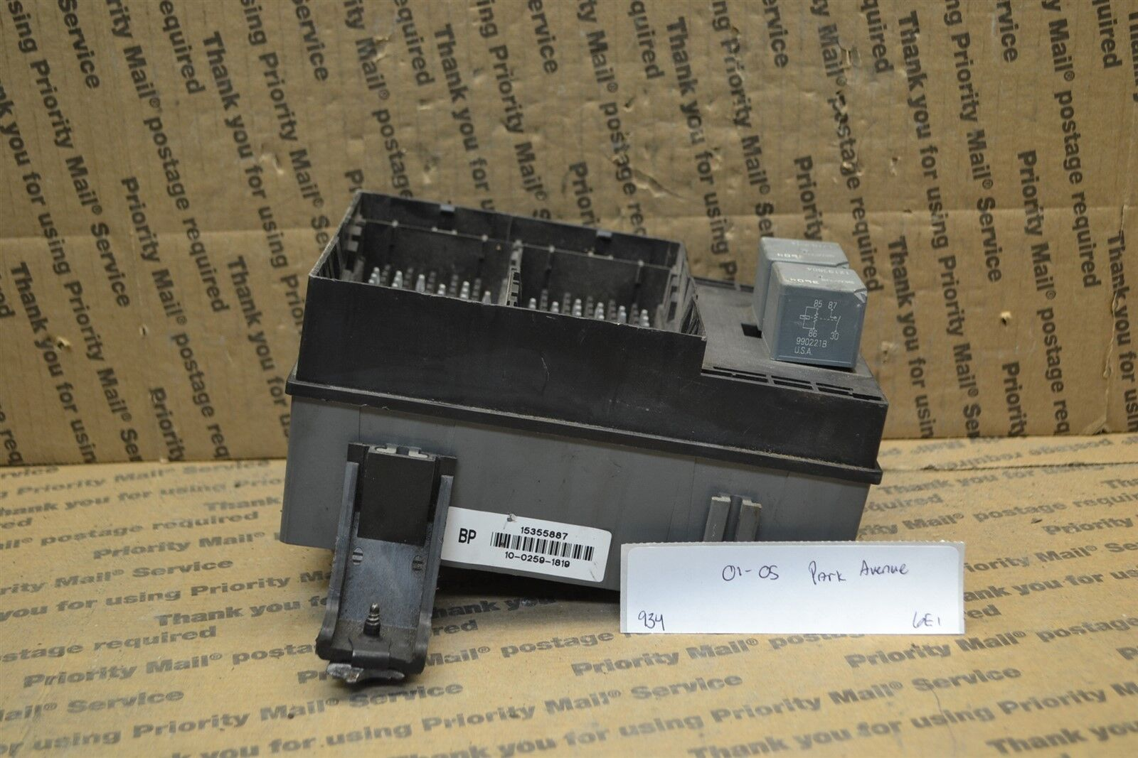 Used Buick Park Avenue Computers Chips Cruise Control And Related Fuse Box 2001 2005 Junction Oem 15355887 Module 934 6a3