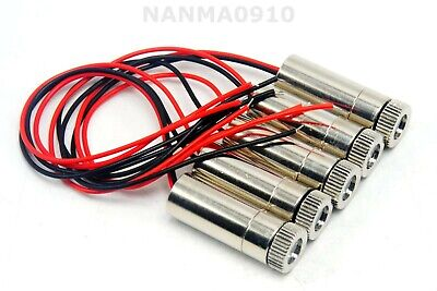 5pcs New Focusable 650nm 30mw Red Laser Module W Dotlinecross Collimating Lens