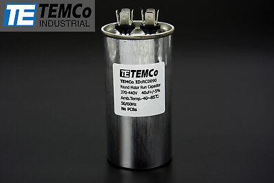 Temco 40 Mfd Uf Run Capacitor 440 Vac Volts Ac Motor Hvac 40 Uf
