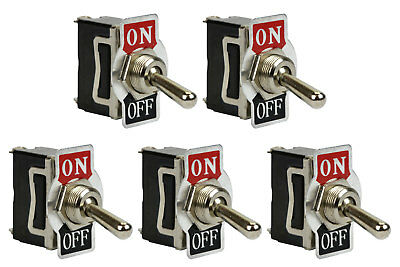 5 Pc Temco Heavy Duty 20a 125v On-off Spst 2 Terminal Toggle Switch