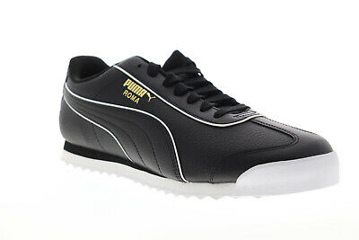 Puma Roma Basic BW 37240102 Mens Black Synthetic Low Top Sneakers Shoes