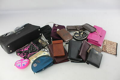 24 x Assorted HANDBAGS, PURSES & WALLETS Inc Ladies, Vintage, Genuine Leather