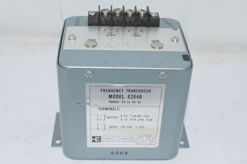SCIENTIFIC COLUMBUS 6284B 55 to 65 Hz Frequency Transducer