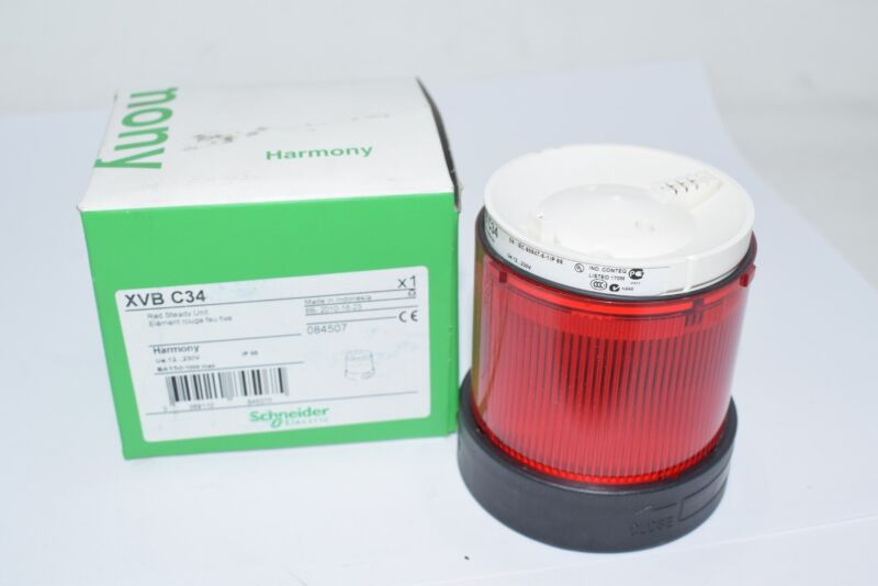 NEW Schneider Electric XVBC34 Visual Warning Device, Module, Steady Lens, Red, 2