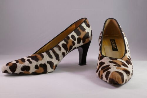 Escada Animal Print Cow Hair Women Shoes, Size 6.5