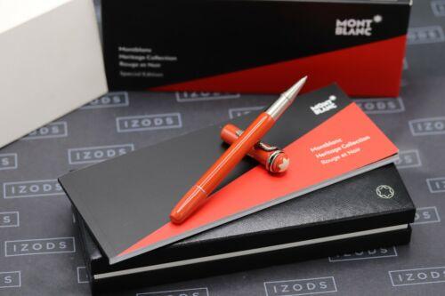 Montblanc Heritage Rouge et Noir Coral Rollerball / Fineliner Pen - UNUSED