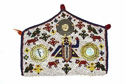 Indian Tribal Religious God Krishna Wall Hanging Heavy Beaded Work. i17-375 UK