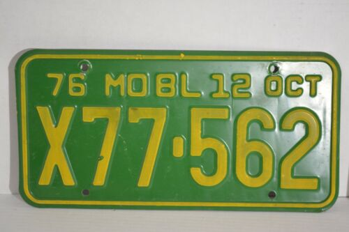 Vintage 1976 Missouri License Plate 76 MO