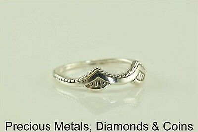Sterling Silver Saddle Draped Band Ring Dakota West 925 Sz: 9, used for sale  Shipping to Canada