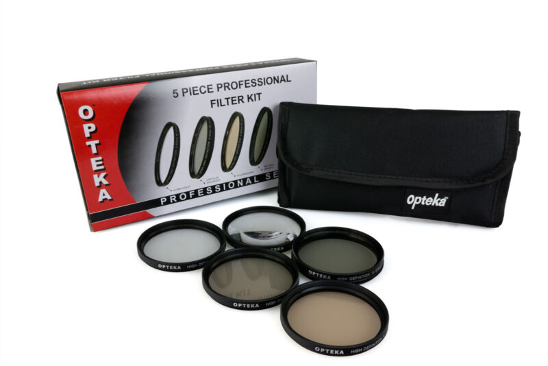 Opteka 67mm HD2 PRO 5 Piece Filter Kit (UV, CPL, FL, ND4 and 10x Macro Lens)
