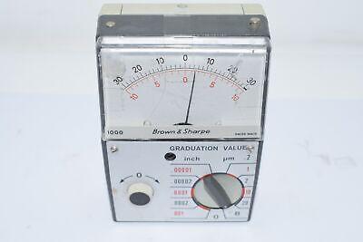 Brown Sharpe Model 1000 Inch Metric Electronic Pocket Amplifier 599-1000