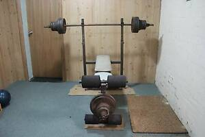 Bench Press w/ Bar and weights Frenchs Forest Warringah Area Preview