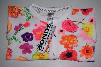 BONDS zippy Dropped Floral size 1 BNWT rare flowers