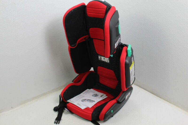 Mifold HF01-GL/RED Hifold Highback Booster Seat Adjustable Foldable Racing Red