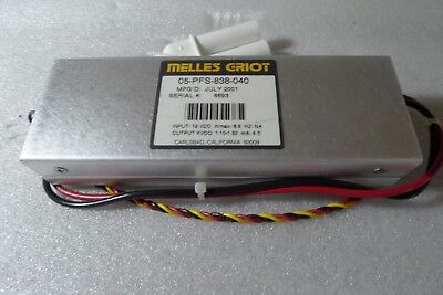Melles Griot Hene Lasers Power Supplies 05-pfs-838-040
