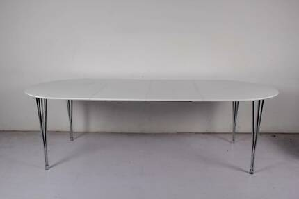 [NEW] Large Matte Gloss Extendable Confererence Table - White Dandenong Greater Dandenong Preview