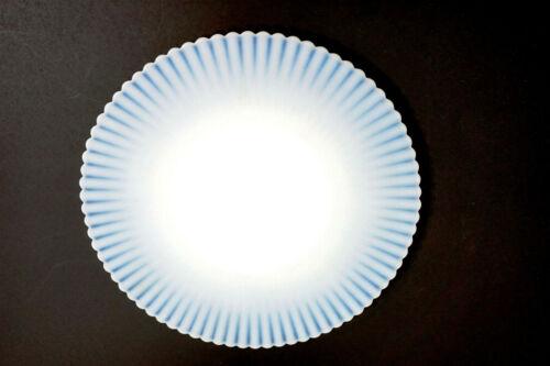 "MacBeth Evans PETALWARE 10.5"" SALVAR CHOP SERVING PLATE Monax White Glass"