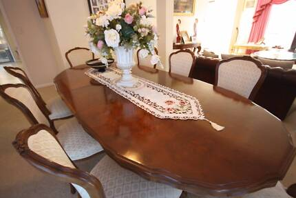 Antique Walnut Dining Setting Burleigh Waters Gold Coast South Preview