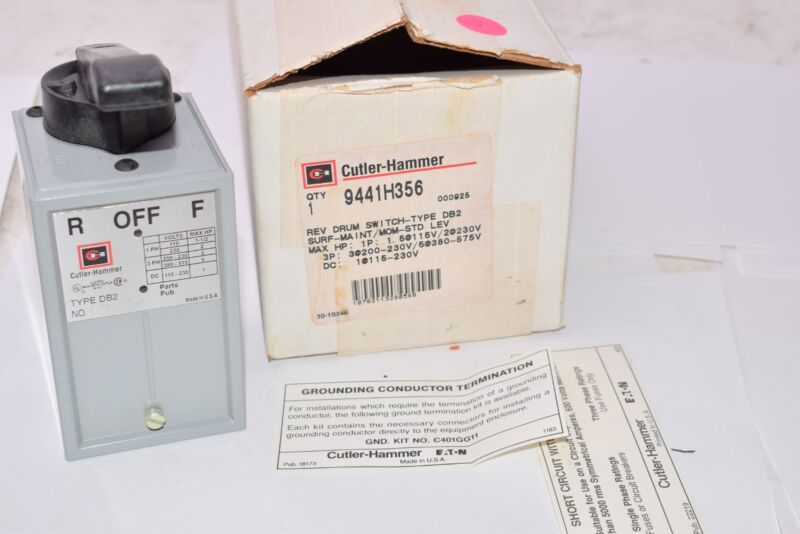 NEW Eaton Cutler-Hammer 9441H356 Drum Switch Type DB2