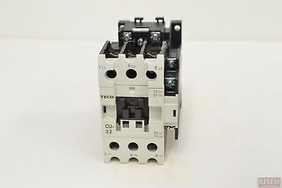 Teco Cu-32 Magnetic Contactor 50a 3 Phase 24v Coil 3a1a1b No And Nc