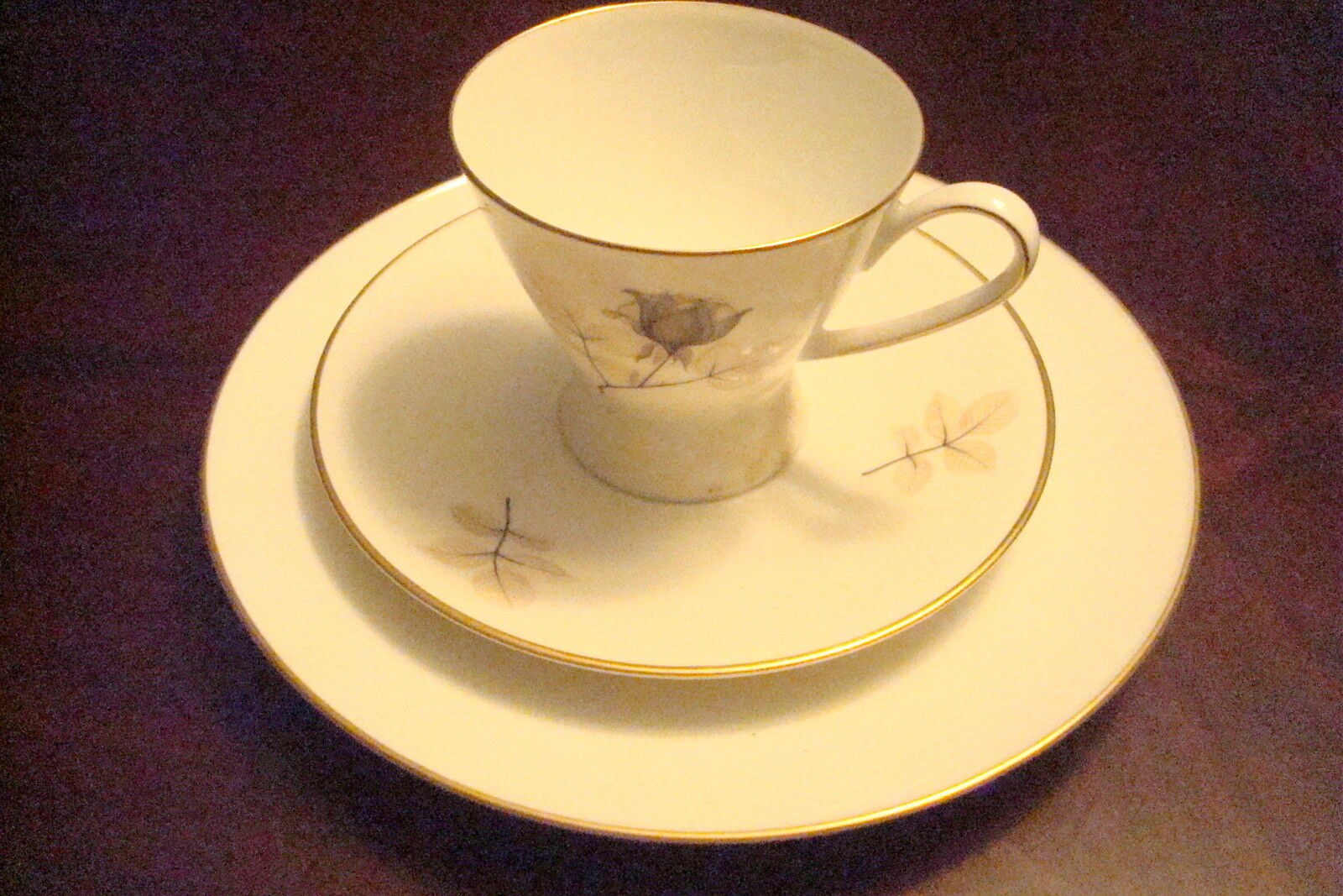 rosenthal germany v 2 sets trio of cup saucer. Black Bedroom Furniture Sets. Home Design Ideas