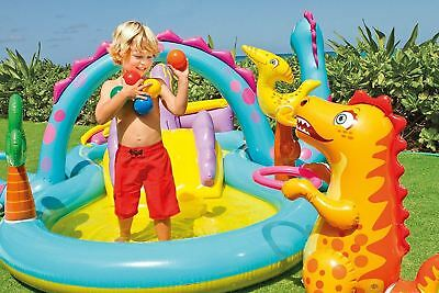 Intex Dinoland Play Center Outdoor Garden Paddling Pool Inflatable Kids Swimming