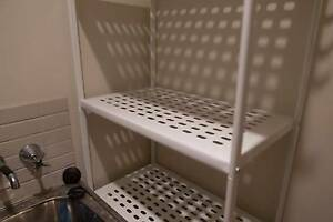 White Metal Shelving Meadowbank Ryde Area Preview
