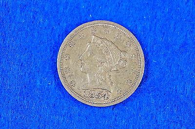 Estate Find 1854 - $ 2 1/2  Liberty Head Gold Piece !! G3548